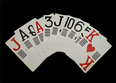 Customzised Plastic Barcode Playing Cards , PMS Plastic Poker Playing Cards