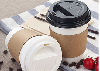 Corrugated Eco Friendly Paper Cups For Hot Water 4 Color Or Pantone Color
